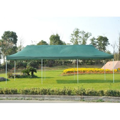 Outsunny 3 x 9m Gazebo Waterproof Wedding Party Tent + Wheeled Carry Bag (Green)