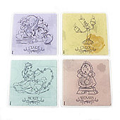 Beauty and the Beast Personalised Coasters (Set of 4)