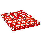 Tesco Christmas Heart Throw