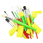 Stencil Brush Value - 25 Pack