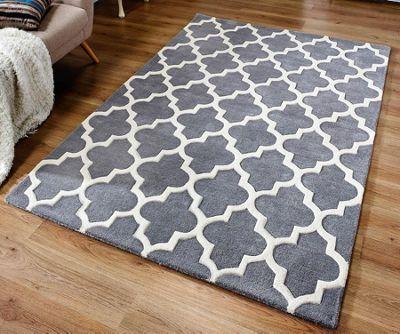Arabesque Grey Rug 80 x 150 cm