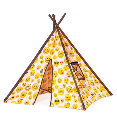 Ready Steady Bed Children's Emoji Girl Print Play Tent