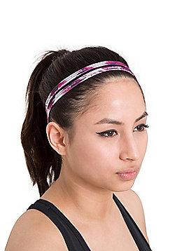 Zakti Womens Kimberly Wyatt Twin Strap Headband with Quick Wicking Fabric - Multi