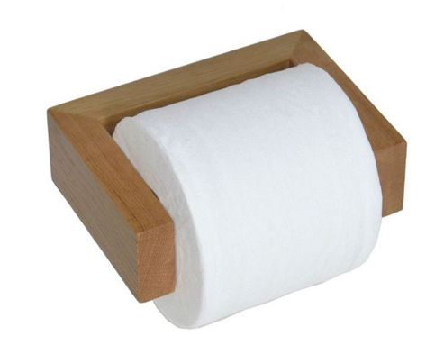Wireworks Simline Toilet Roll Holder - Natural Oak