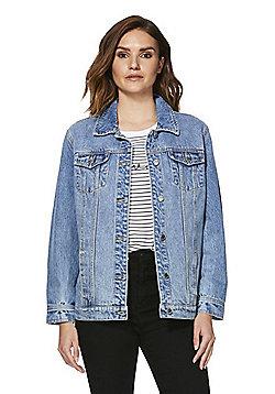 F&F Oversized Denim Jacket - Mid wash
