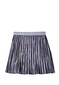 F&F Velour Pleated Skirt - Grey