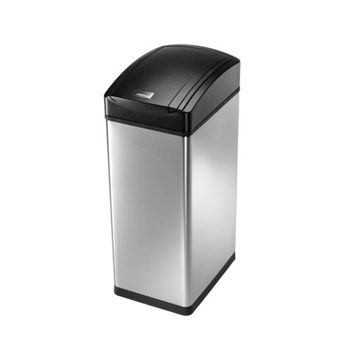 simplehuman 45 Litres Slim Soft Touch Bin in Brushed Stainless Steel