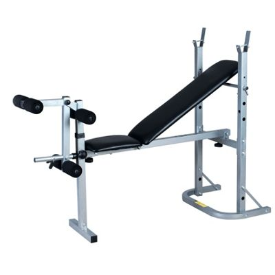 We R Sports XBench Standard Folding Weight Bench SILVER-BLACK