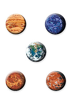 The Planets Button Badge Pack 2.5x2.5cm - Multi