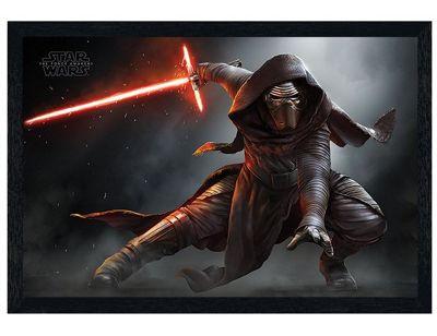 Star Wars Episode VII Black Wooden Framed Kylo Ren Crouch Maxi Poster 91.5x61cm