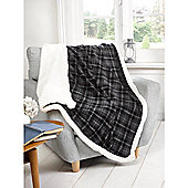 Cameron Black Tartan Throw - 130 x 160cm