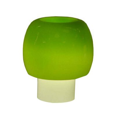 Contemporary Mushroom Glass Table Lamp, Green