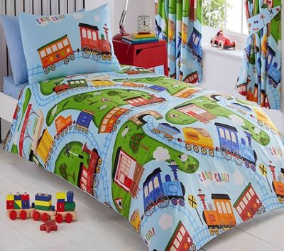 Toy Trains Single Bedding