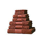 Dreamscene Luxury Egyptian Cotton Towel Bale 9 Piece Set - Brown