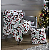 Festive Home Rudolph & Candy Christmas Throw - 59x78 Inches (150x200cm)
