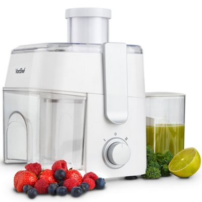 VonShef Essentials Juicer 300W - Compact Centrifugal Electric Whole Fruit & Vegetable Juice Extractor