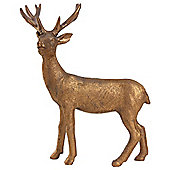 21cm Copper Polyresin Standing Stag Christmas Ornament