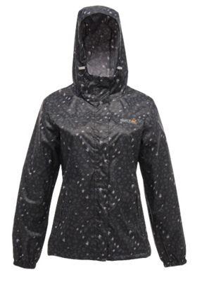 Printed Pack-It Womens Jacket Black 16