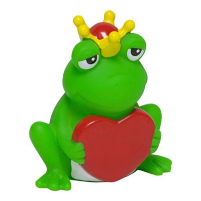Lilalu Frog with Heart Rubber Duck Bathtime Toy