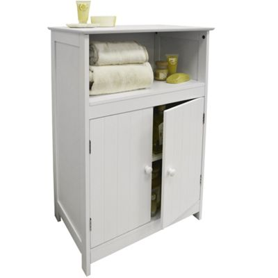 waltham shaker tongue and groove bathroom 2 door storage cabinet white