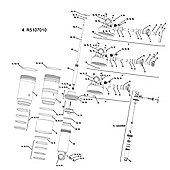 RockShox Rebound Knob/Compression Lever Kit Monarch RT3 11-12