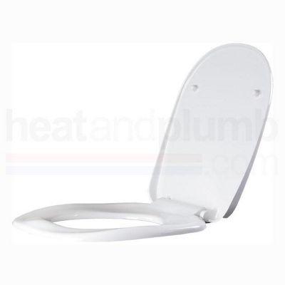 AKW White Ergonomic Toilet Seat including Cover
