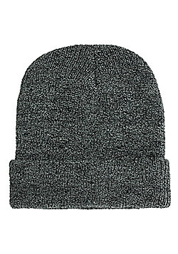 Antique Grey Heritage Beanie - Silver