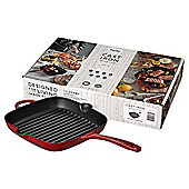 Denby Red Cast Iron 25cm Griddle Pan