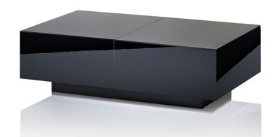 UK-CF Ultimate High Gloss Black Extending Coffee Table