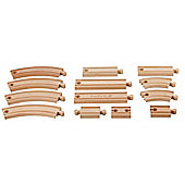 EverEarth Wooden Toy 13 pcs Expansion Train Track Set