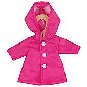 Bigjigs Toys Pink Raincoat 28cm - Doll Outfit