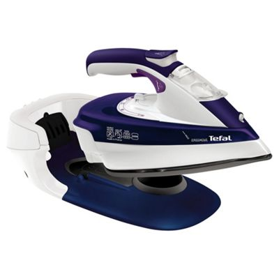 Tefal Freemove FV9965 Cordless Steam Iron - Purple & White