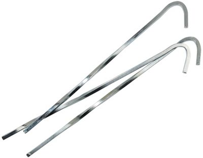 Yellowstone 7 Inch Steel Skewer Peg 10 Pack + Carry Bag
