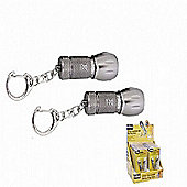 Rolson LED Mini Aluminium Key Ring Torch, Set of 2