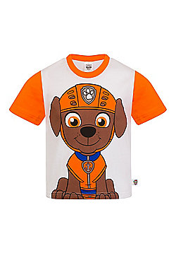 PAW Patrol Boys Kids Character T-Shirt Rocky Chase Rubble - Orange