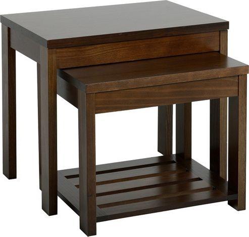 Home Essence Eclipse 2 Piece Nest of Tables - Walnut