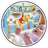 Winnie The Pooh Chasing Butterflies Wind Up Cot Mobile