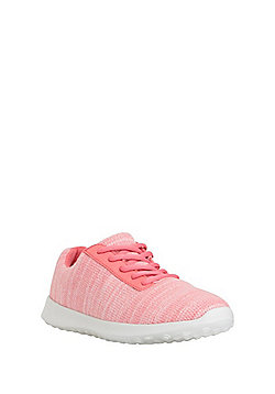 F&F Active Marl Knit Trainers - Coral
