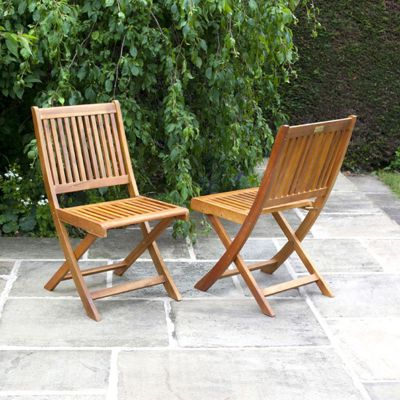 BillyOh Windsor Hardwood Acacia Wooden Folding Chairs