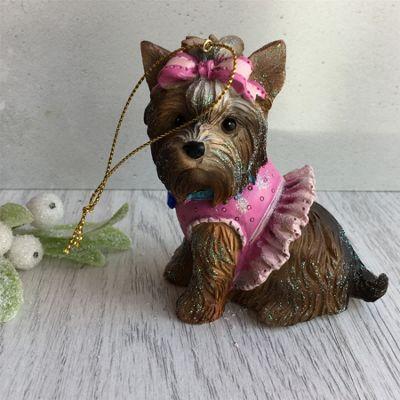 Yorkshire Terrier Ballerina Dog Christmas Decoration
