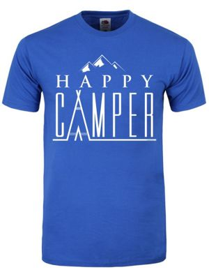 Happy Camper Blue Men's T-shirt