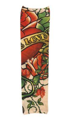 Novelty Adults Female Fake Tattoo True Love Sleeve Fancy Dress Accessory