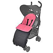 Footmuff For Baby Buggy Pushchair Pram Dark Pink