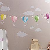 Set of 5 Pastel Hot Air Balloon Paper Lanterns
