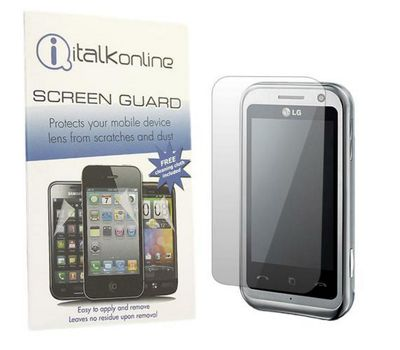 S-Protect LCD Screen Protector & Micro Fibre Cleaning Cloth - LG KM900 Arena