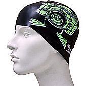 Speedo Slogan Junior Silicone Swimming Cap - Black