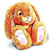 Honey Patchfoot Long Eared Cuddly Rabbit 18cm