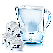 BRITA Marella 2.4L Cool White Water Jug with 6 Month Pack Filters
