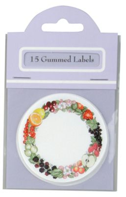 Traditional Gummed Circular Preserve Labels, Pack of 15