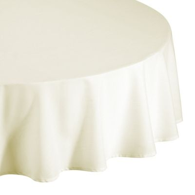 Hamilton McBride Essentials Round Cream Tablecloth - 175x175cm